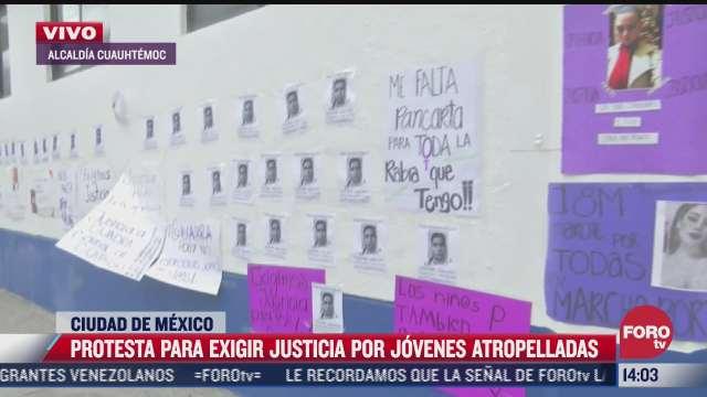 protestan para exigir justicia por jovenes atropelladas en cdmx