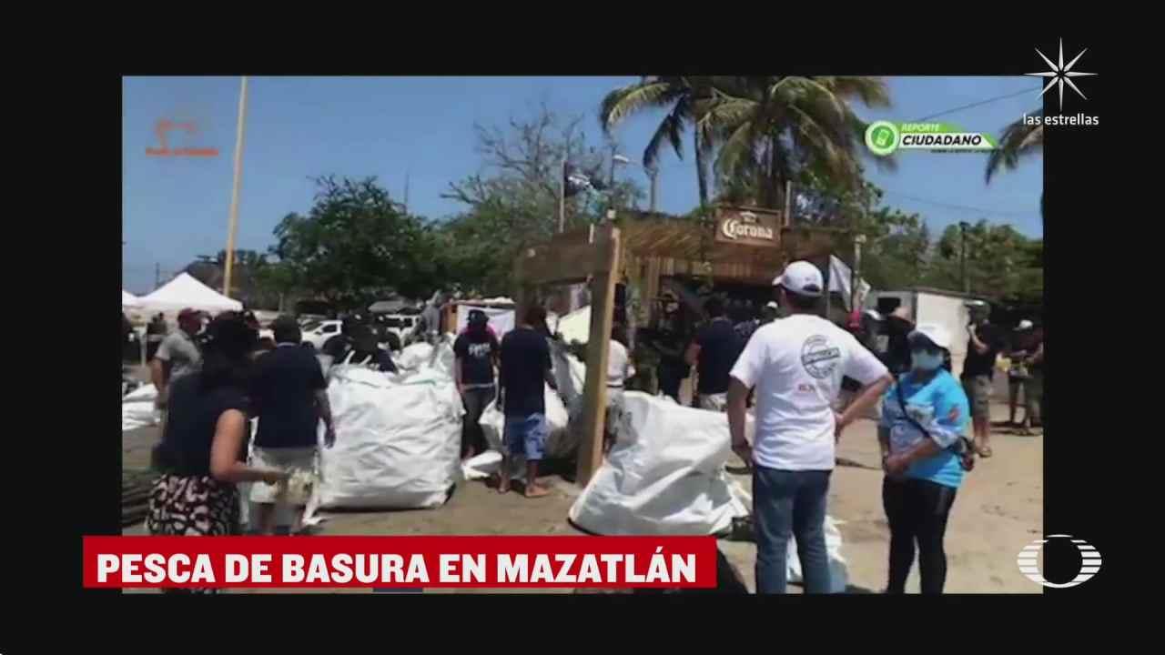 realizan campeonato de pesca de desechos plasticos en mazatlan