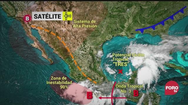 se forma el ciclon tropical potencial tres reporta proteccion civil