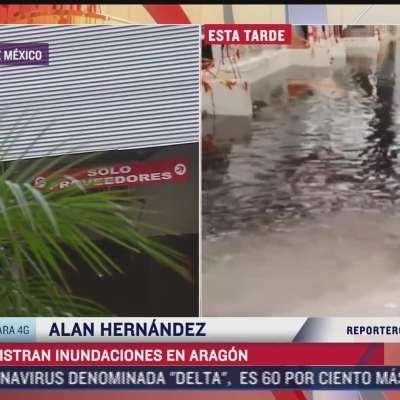 Se registran diversas inundaciones en Ecatepec