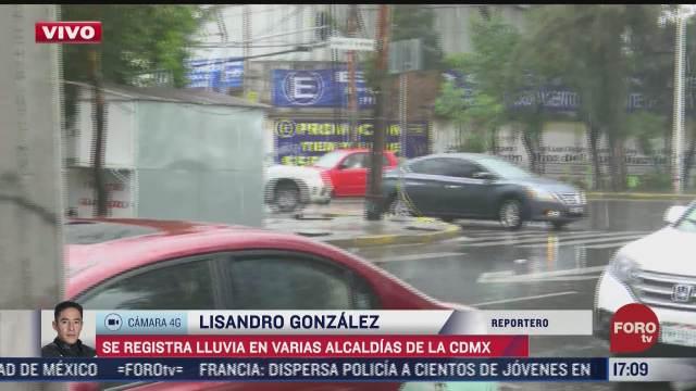 se registran lluvias en 10 alcaldias de la ciudad de mexico