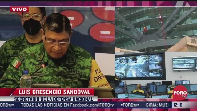 secretaria de defensa activa brigadas en simulacro nacional