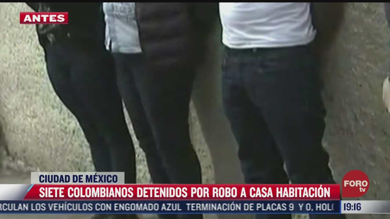 siete colombianos detenidos por robo a casa habitacion