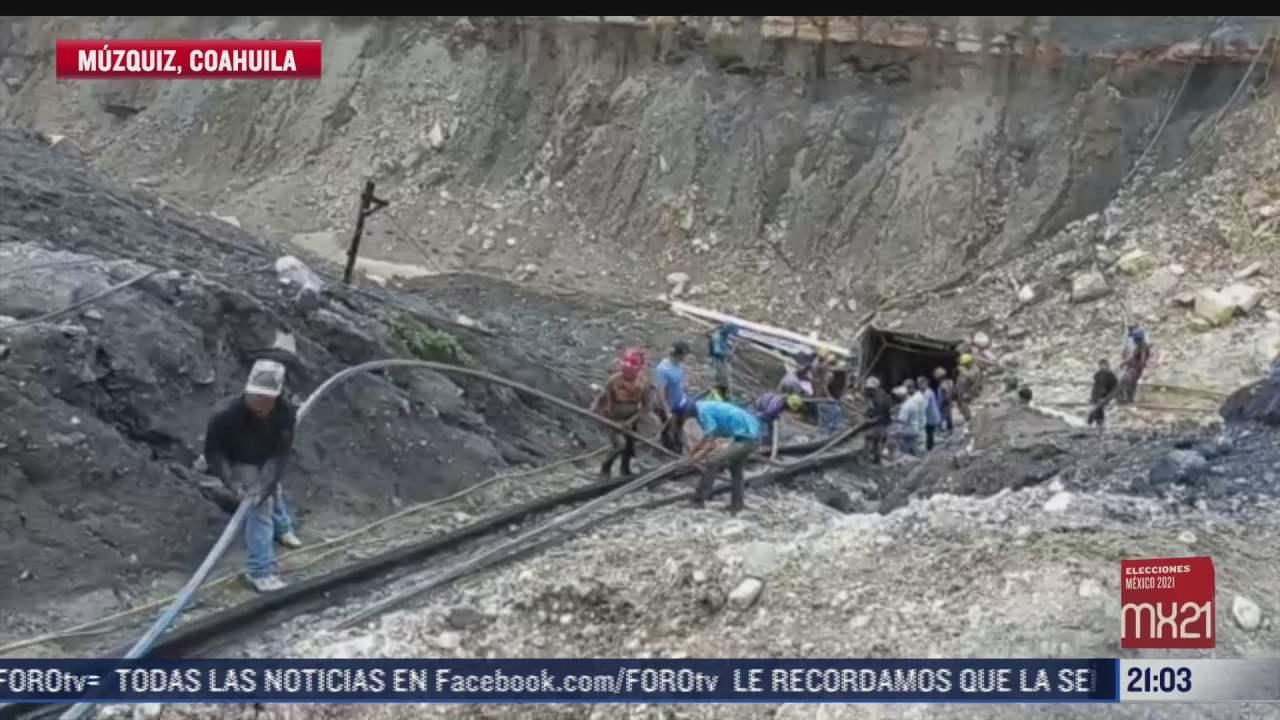 siguen atrapados al menos 7 mineros en muzquiz coahuila