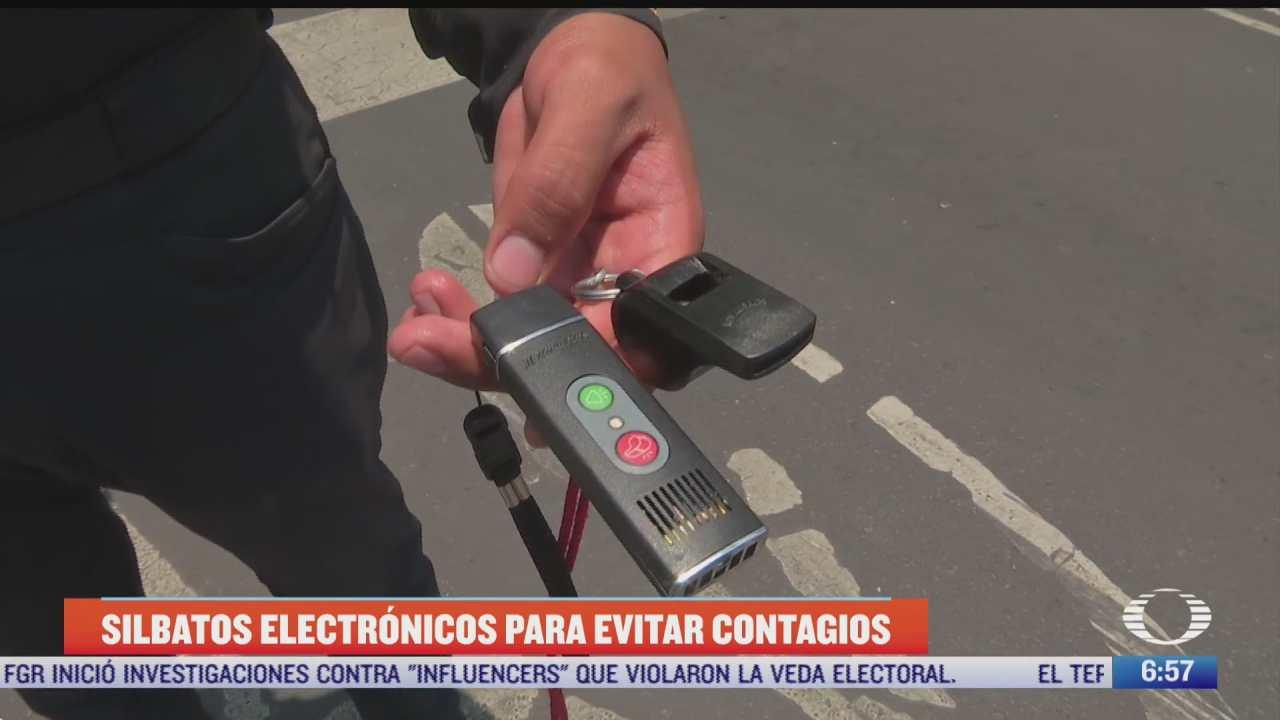 silbatos electronicos para evitar contagios de covid