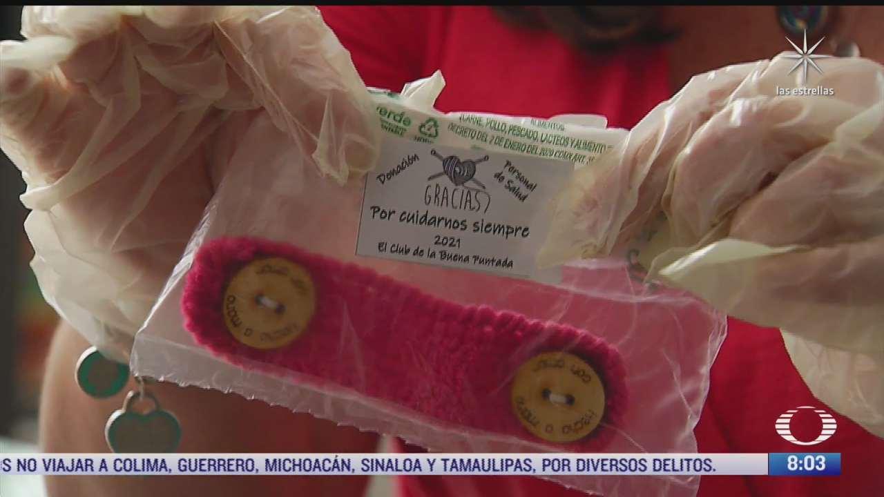 tejedoras mexicanas donan salvaorejas a medicos y enfermeras de hospitales publicos