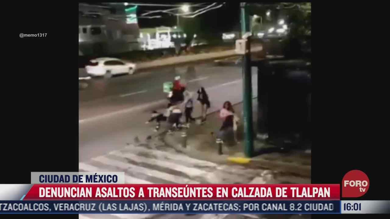 trabajadoras sexuales roban celular a una persona en calzada de tlalpan