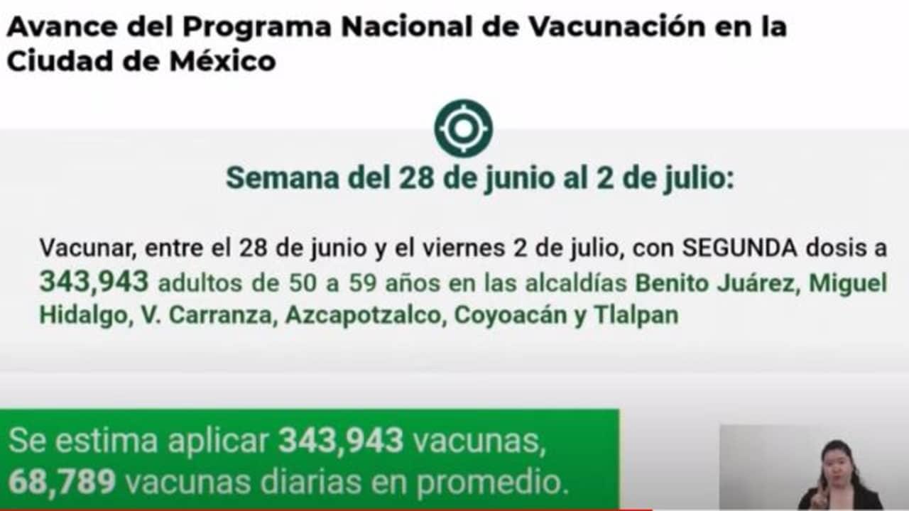 Vacunación para adultos de 50 a 59 años