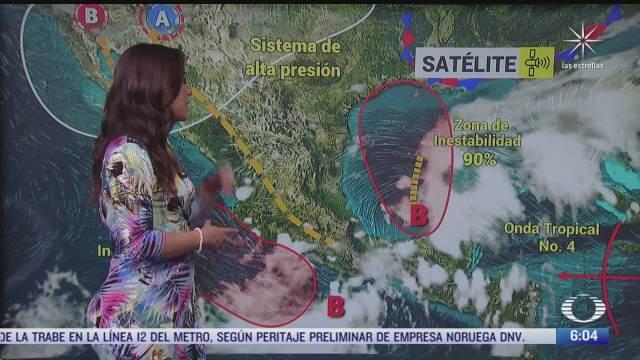 zona de baja presion provocara lluvias fuertes en noreste y oriente de mexico
