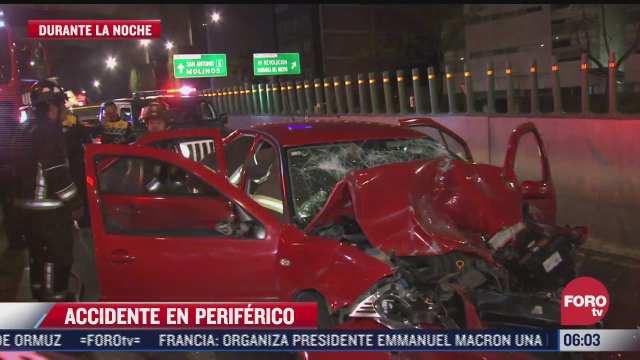 accidentes vehiculares dejan una persona muerta sobre periferico sur en cdmx