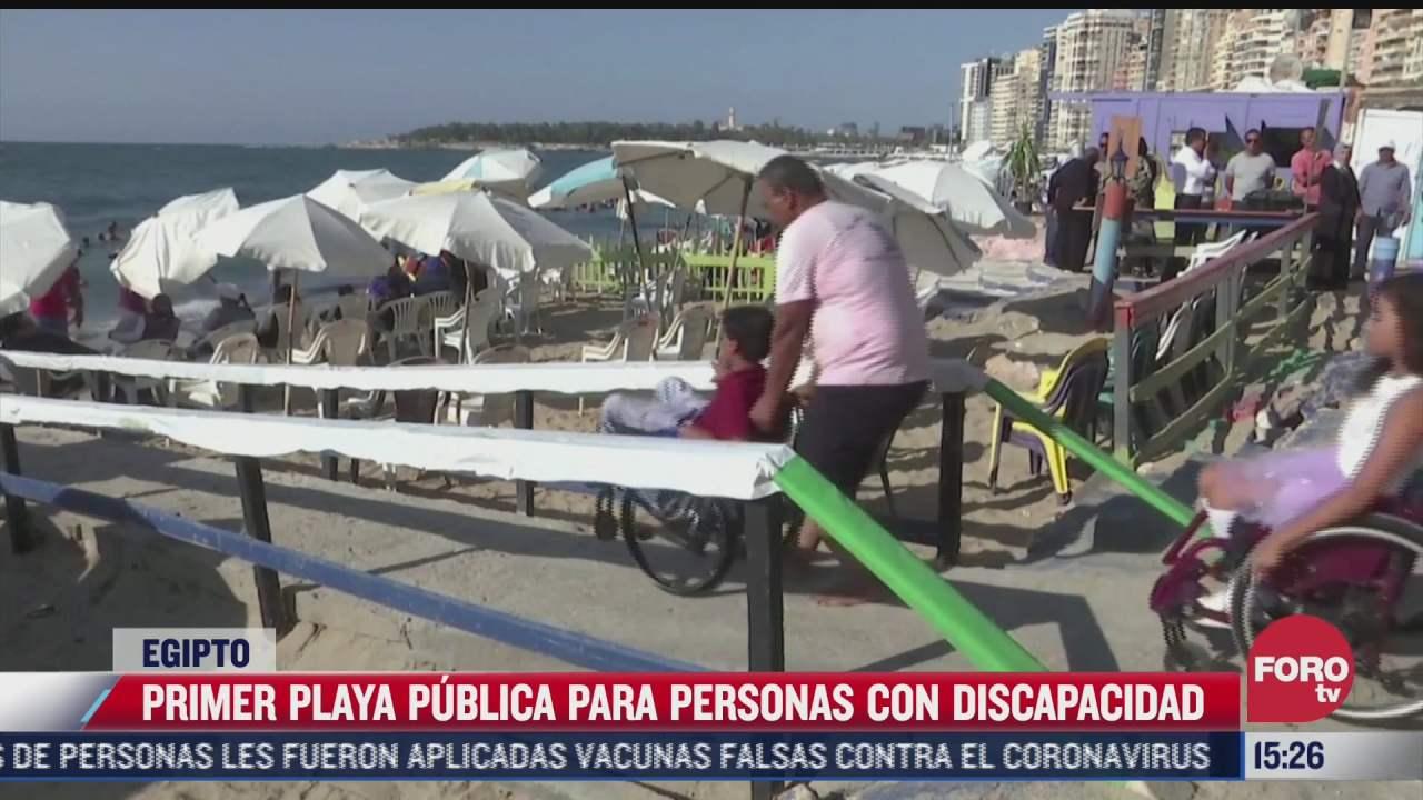 alejandria implementa playa con acceso a personas en silla de ruedas