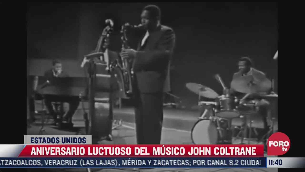 aniversario luctuoso del saxofonista john coltrane