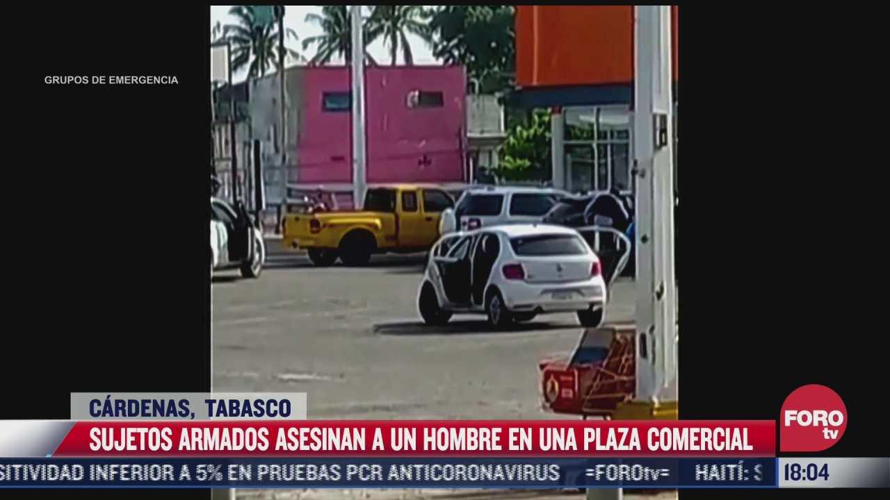 asesinan a hombre en plaza comercial de tabasco