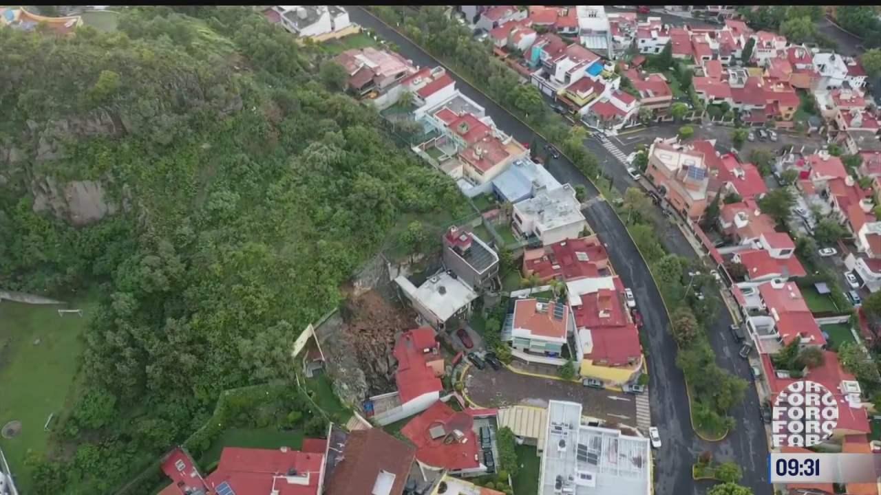 asi se ve desde el aire el deslave de cerro que destruye casa en naucalpan
