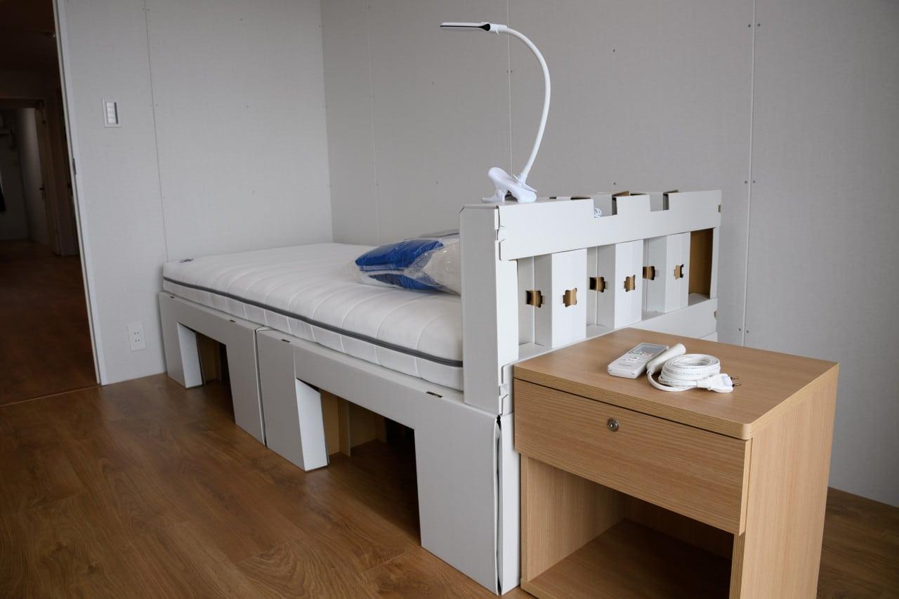 camas de cartón, Villa Olímpica, coronavirus, prevención de enfermedades, Tokyo 2020