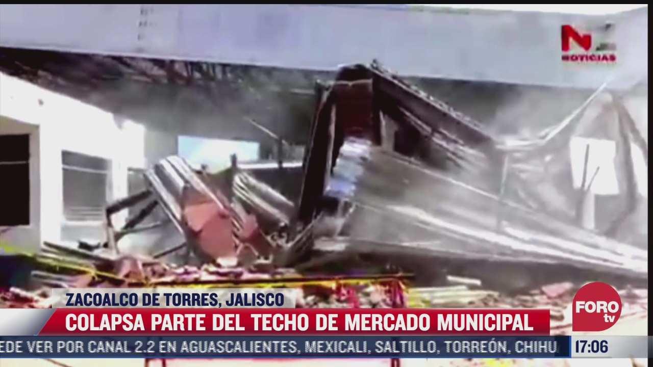 colapsa techo de mercado municipal en jalisco