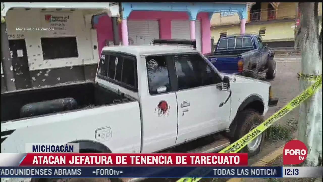 comando armado ataca jefatura de tarecuato en michoacan