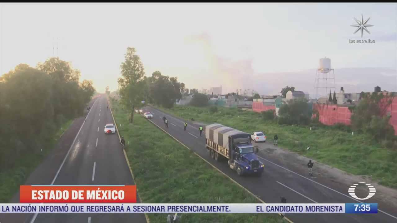 controlan fuga de gasolina en la autopista piramides ecatepec edomex