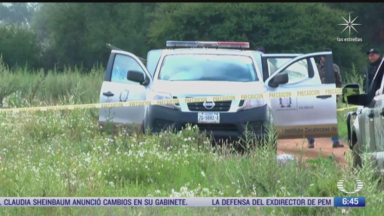 cuerpos hallados en zacatecas pertenecen a familia reportada como desaparecida