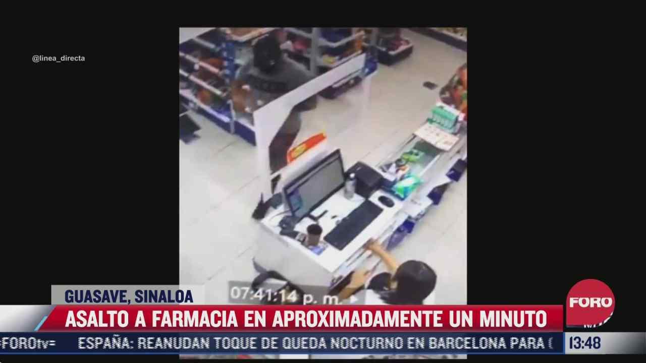 delincuente asalta una farmacia en tan solo un minuto en guasave sinaloa