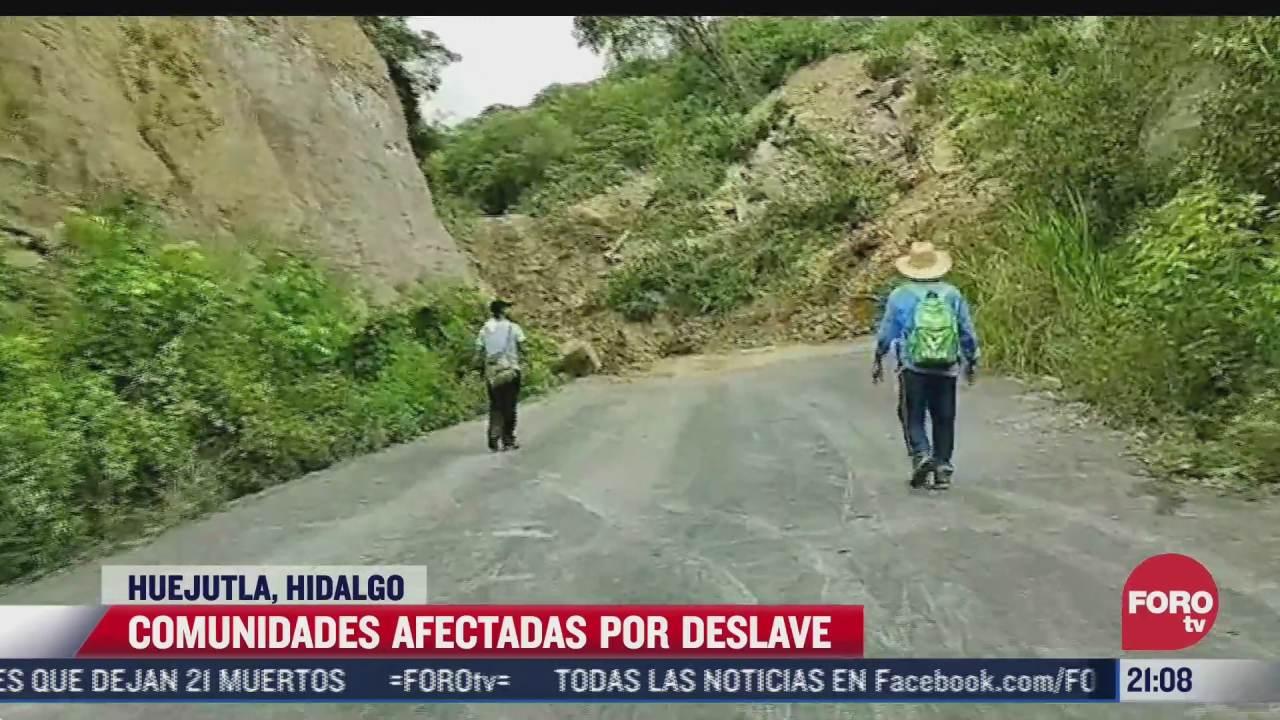 desgajamiento de cerro afecta a cerca de mil personas en huejutla hidalgo