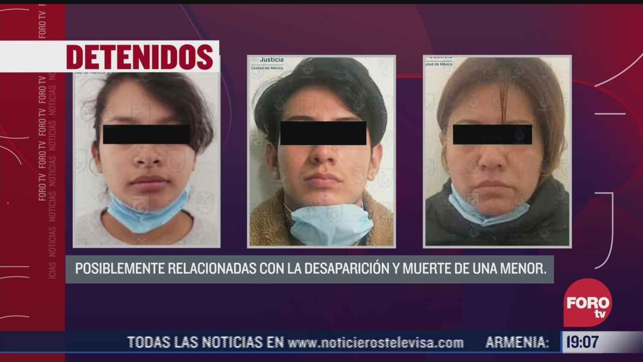 detienen a tres por muerte de nina de cuatro anos en cdmx