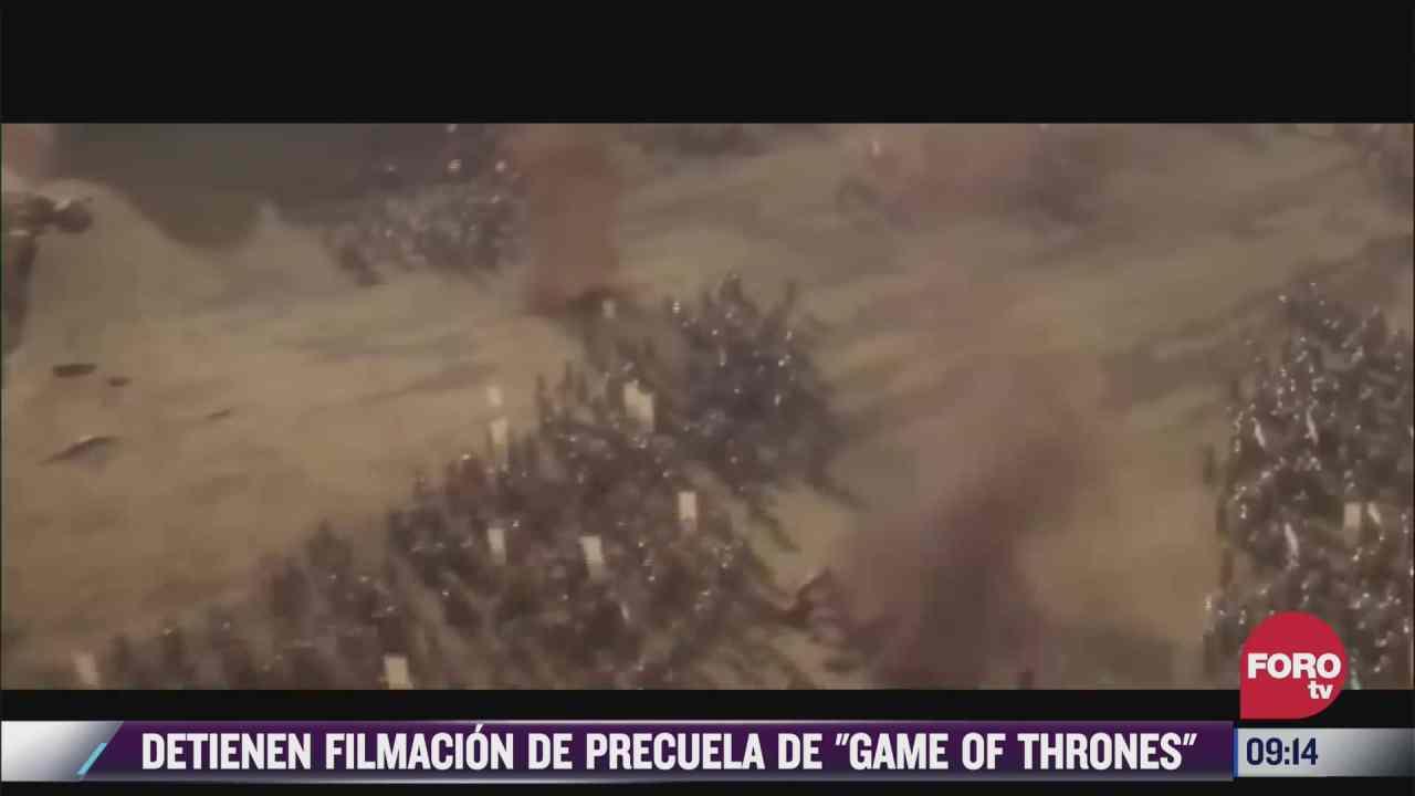 espectaculosenexpreso detienen filmacion de precuela de game of thrones