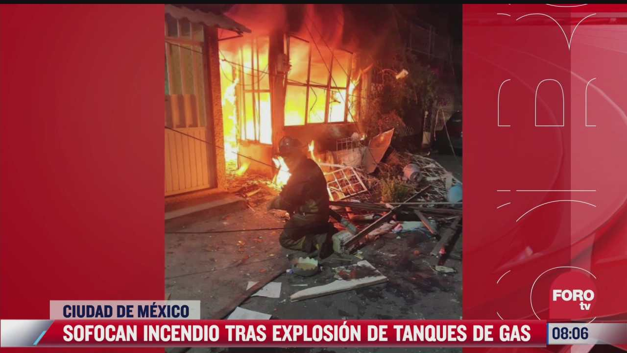 explotan tanques de gas en casa de colonia voceadores en iztapalapa