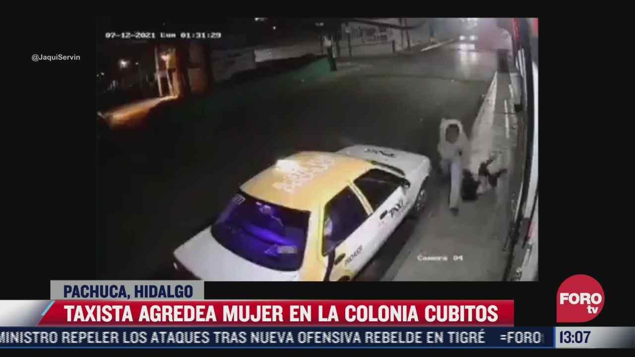 graban a taxista agrediendo a una mujer en pachuca hidalgo