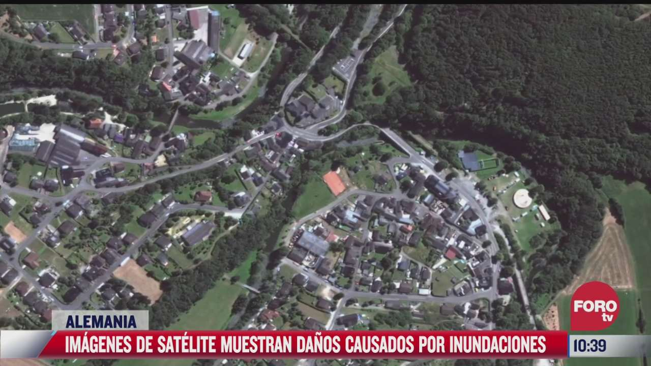 imagenes de satelite muestran danos por inundaciones en alemania