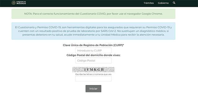 IMSS plataforma electrónica tramitar incapacidad COVID-19