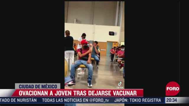 joven grita durante vacunacion covid 19 en chihuahua