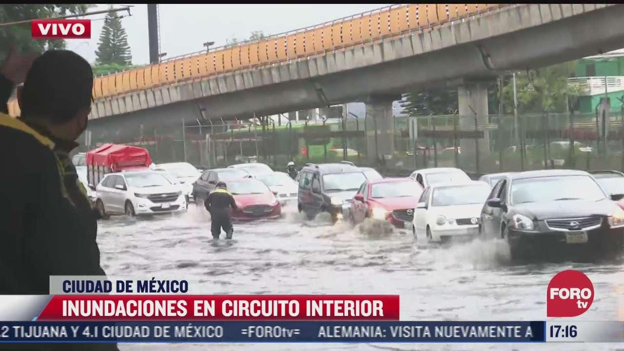 lluvias dejan inundaciones y afectaciones viales en circuito interior