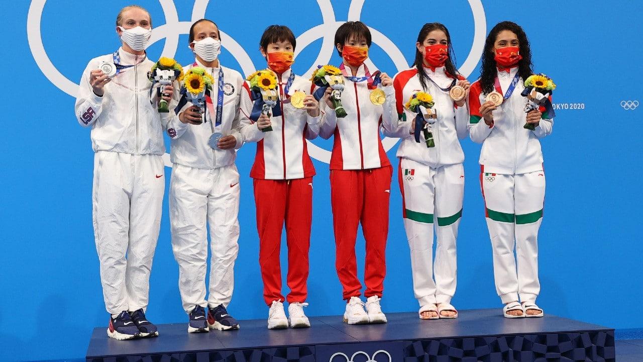 México gana bronce en clavados sincronizados femenil, la segunda medalla en Tokyo 2020