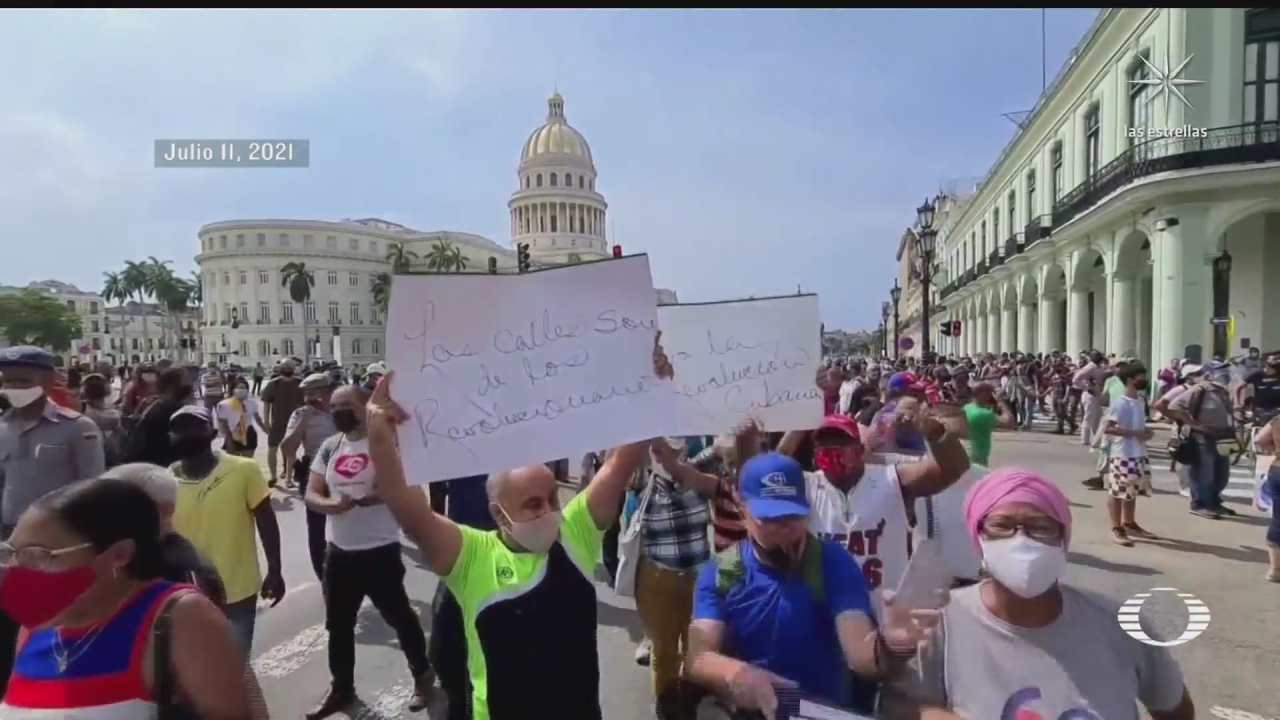 miles de cubanos toman las calles en la isla