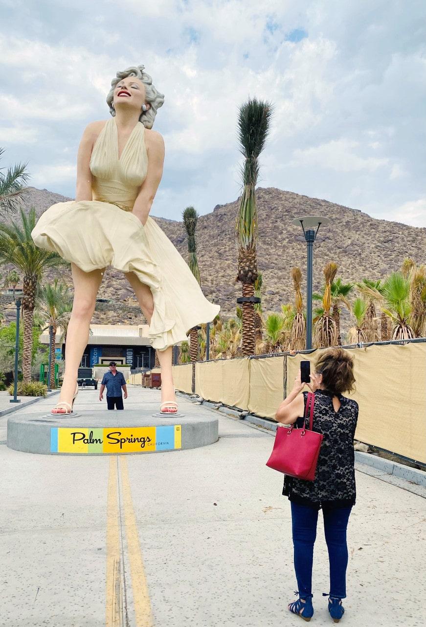 Marilyn Monroe, estatua, historia, Hollywood