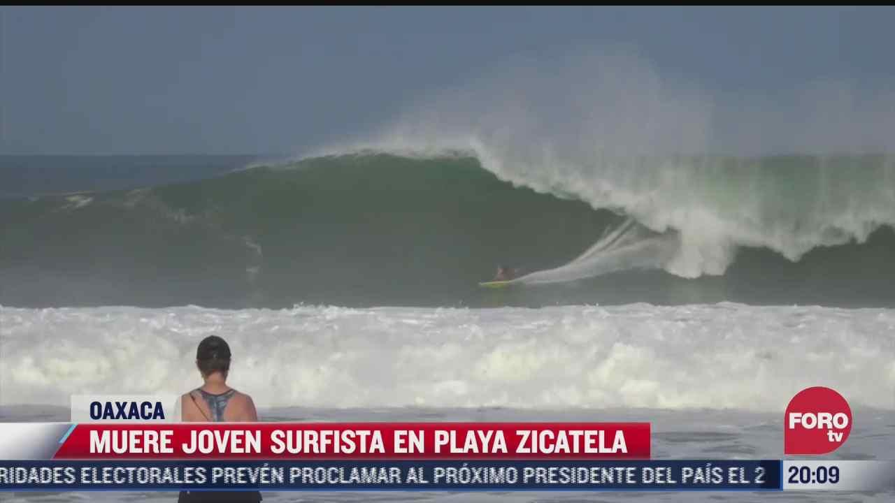 muere joven surfista en playa zicatela oaxaca