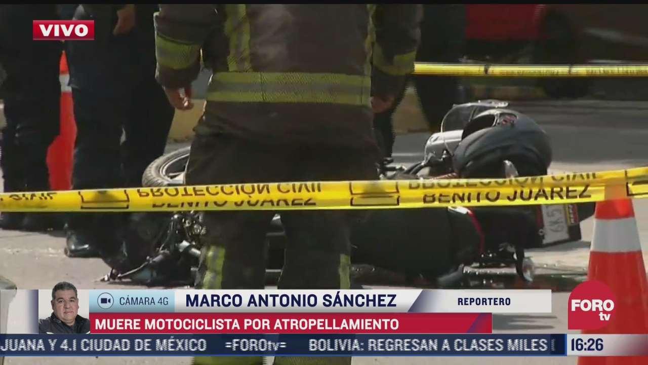 muere motociclista atropellado en la cdmx