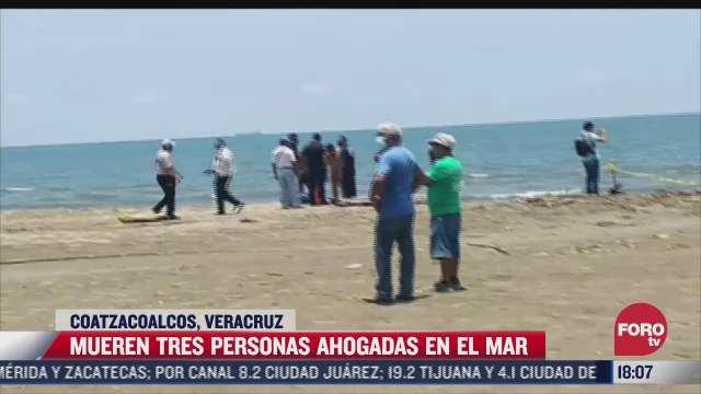 mueren tres personas ahogadas en playas de coatzacoalcos