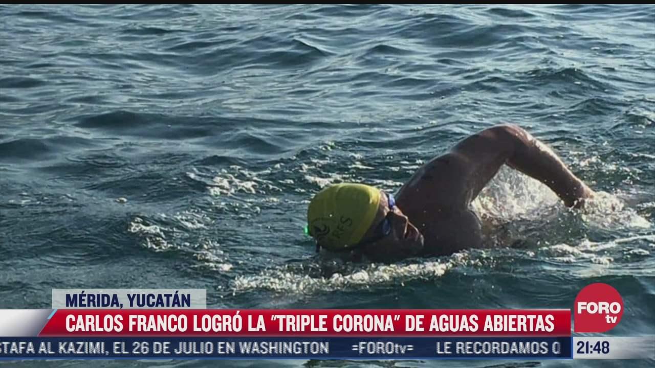 nadador yucateco consigue la triple corona de aguas abiertas