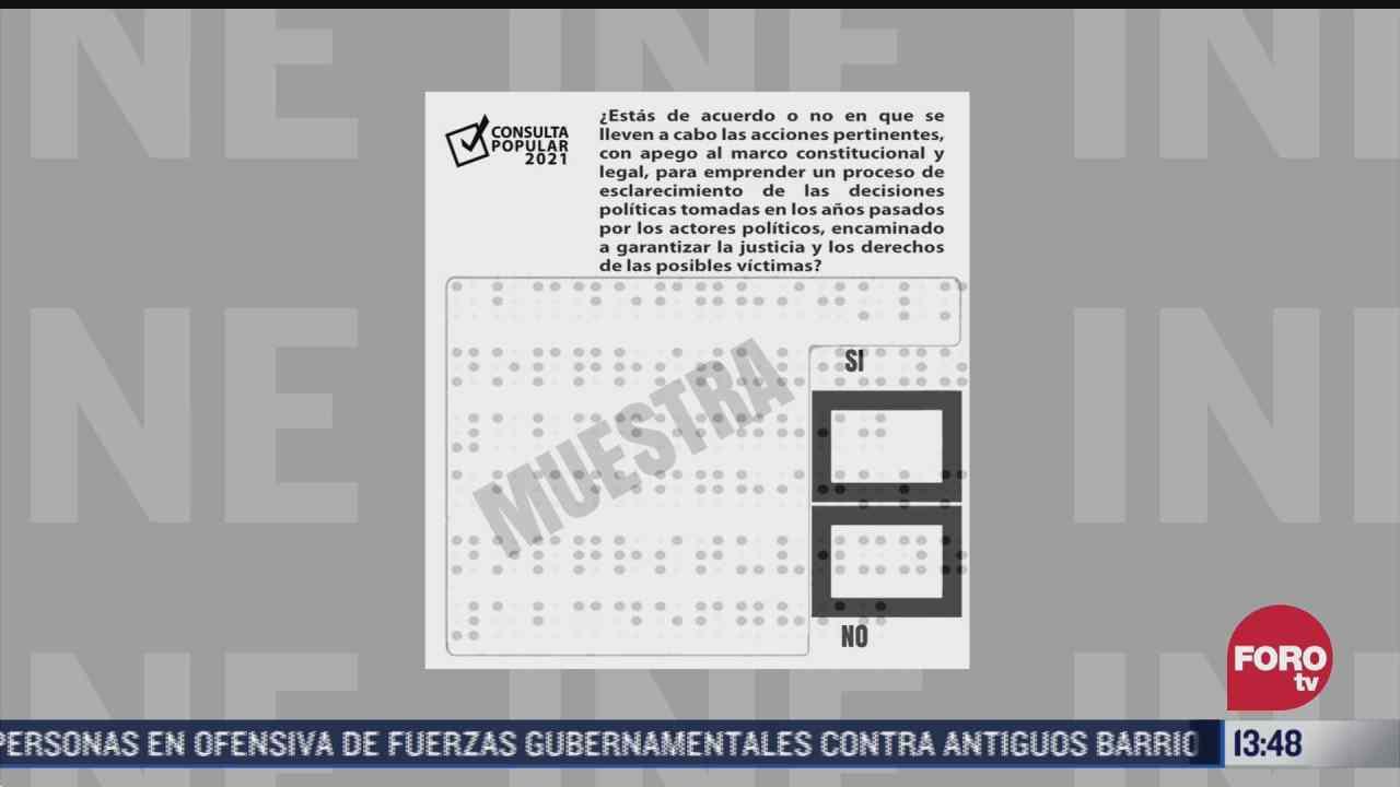 papeletas para consulta popular tienen cuatro candados de seguridad