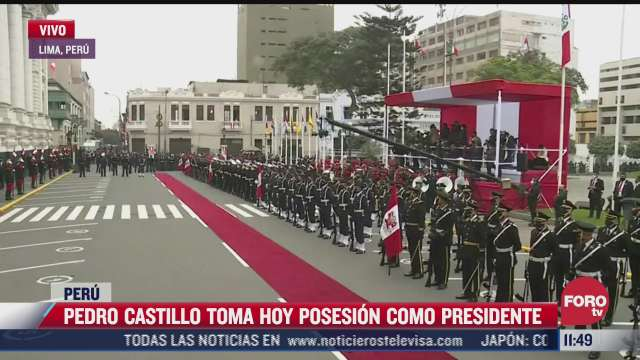 pedro castillo toma posesion como presidente de peru