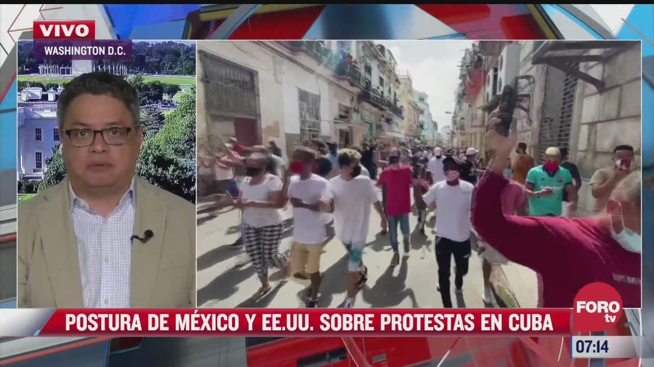 postura de mexico y eeuu sobre protestas en cuba