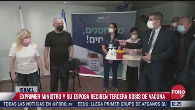 primer ministro de israel recibe tercera dosis contra el covid