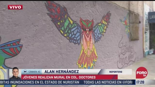 realizan mural en la colonia doctores