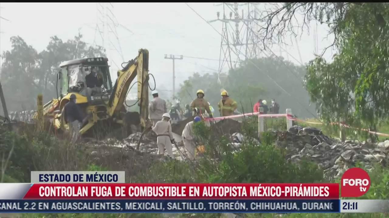 toma clandestina provoca fuga de combustible en el estado de mexico