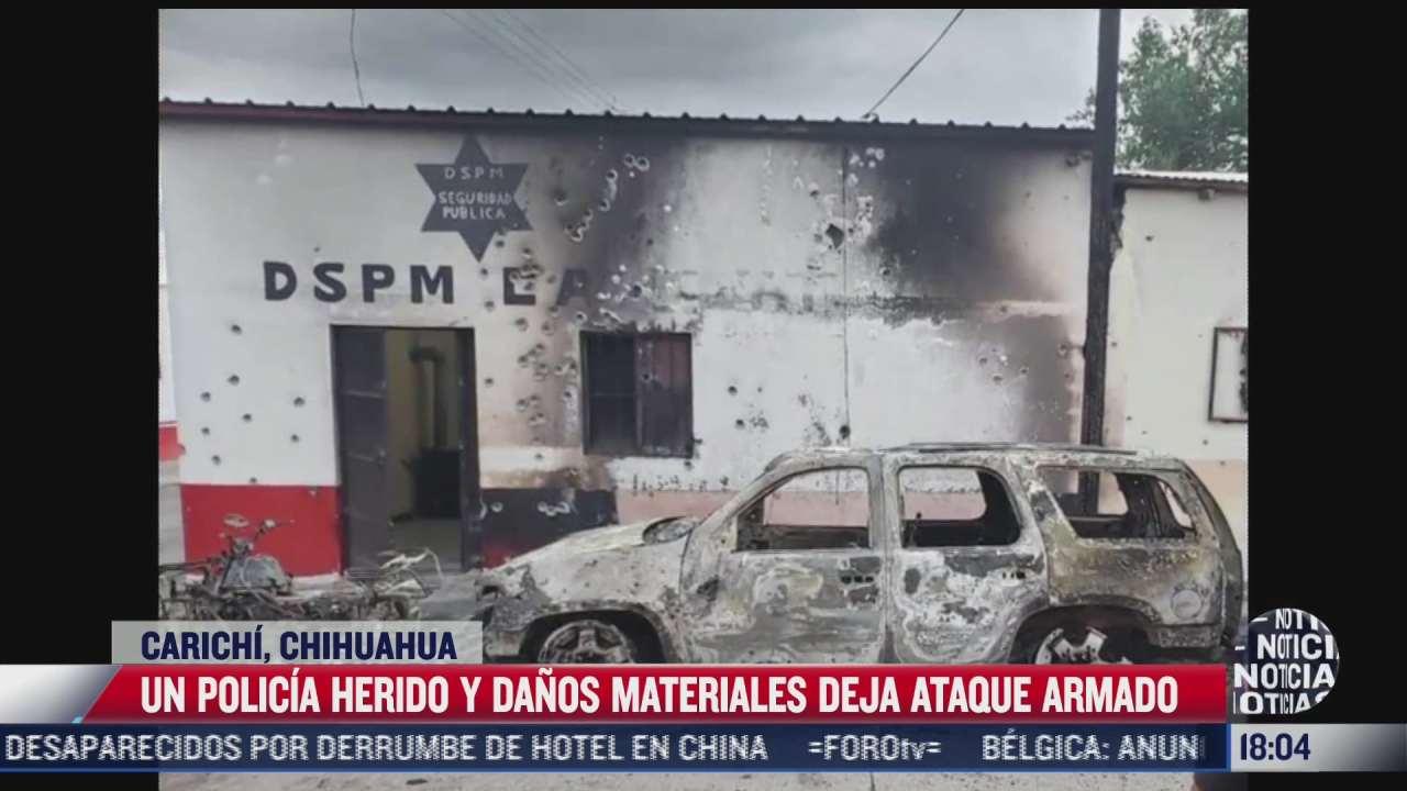 un policia resulta herido tras ataque contra comandancia municipal en la sierra tarahumara