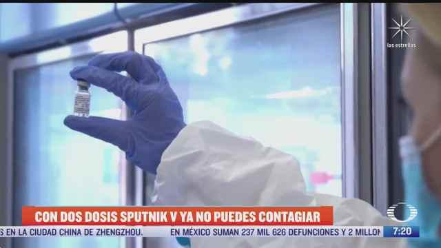 vacunados con dos dosis de sputnik v ya no contagian dice rusia