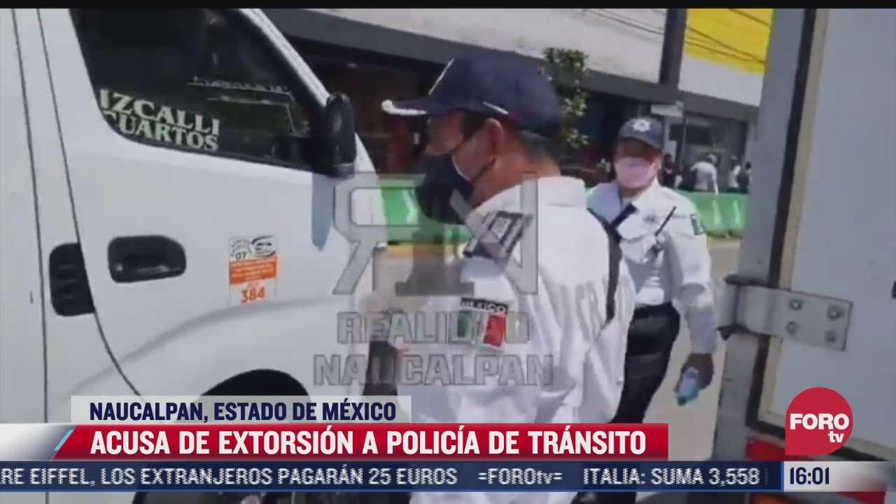 video captan a policia extorsionando a automovilistas en naucalpan