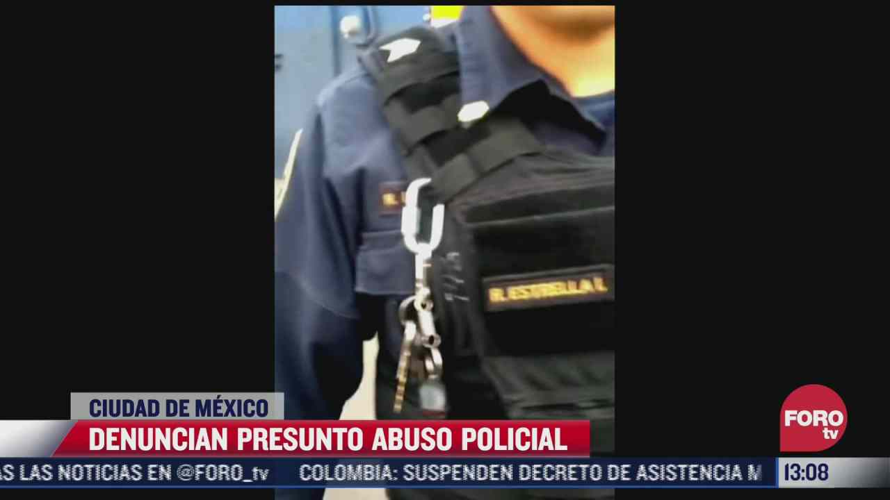 video denuncian presunto caso de abuso policial en cdmx